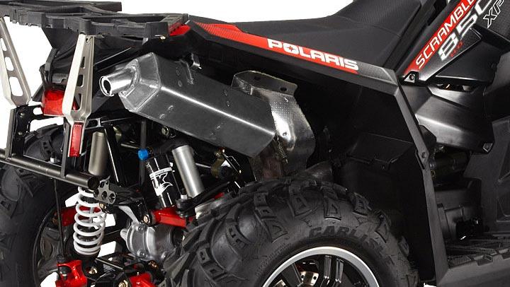 Обновленная выхлопная система квадроцикла Scrambler XP 850 H.O.