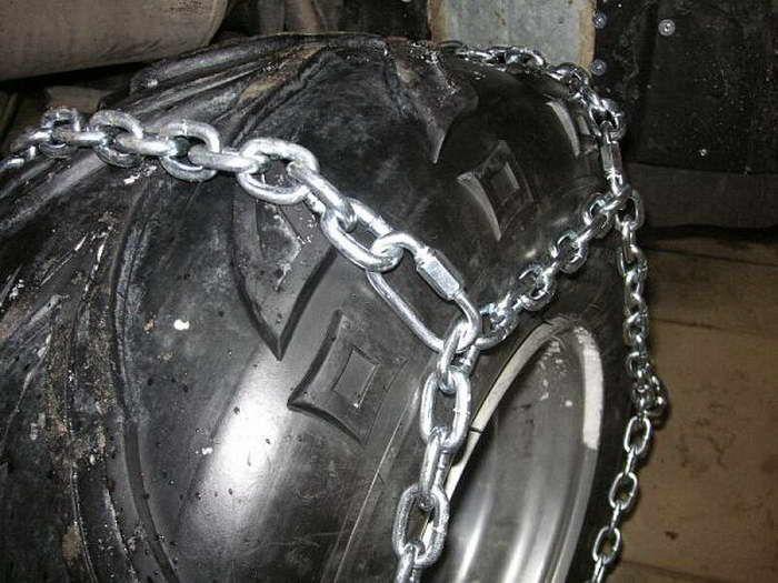 Цепи для колес квадроцикла своими руками